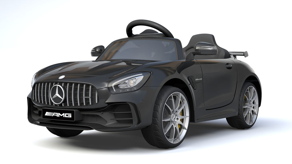 6V 4.5A Two Motors Mercedes Benz GTR AMG Licenced Battery Powered Kids Electric Ride On Toy Car HL288 BLACK