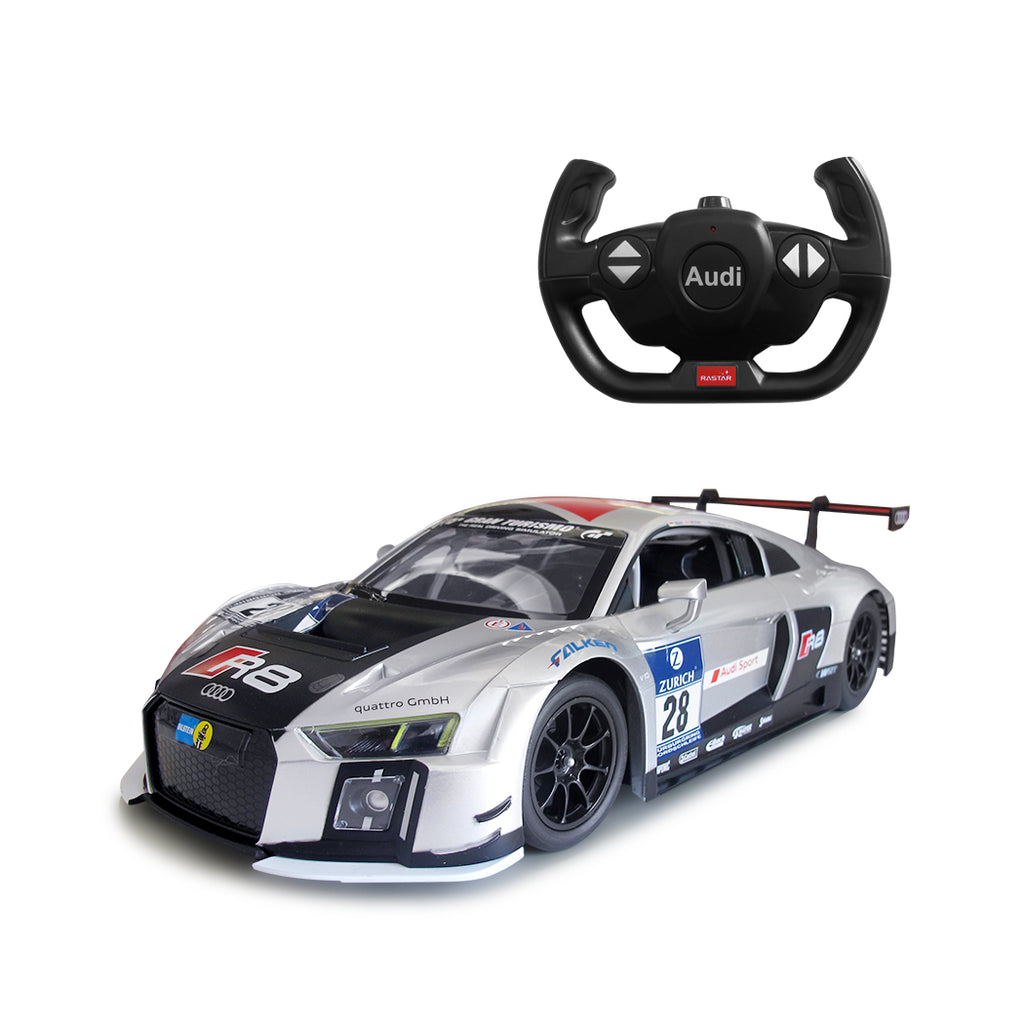 (PACK OF 6)  RC75300 Genuine Licensed 1: 14 Audi R8 LMS Radio Remote Control Car Silver