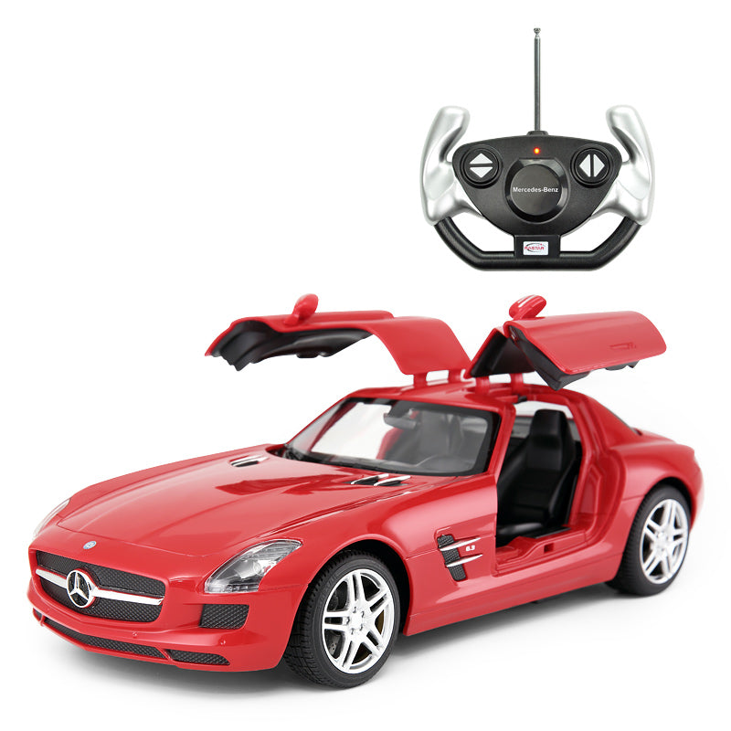 (PACK OF 6)  RC47600 Genuine Licensed 1: 14 Mercedes-Benz SLS AMG Open Door Radio Remote Control Car Red