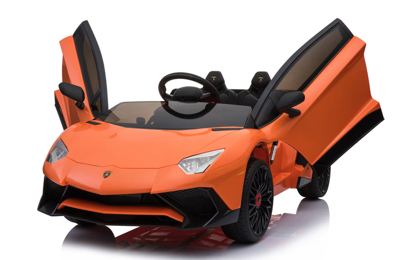 12V 7A Lamborghini Aventador SV Licensed Battery Powered Kids Electric Ride On Toy Car BDM0913 BLACK