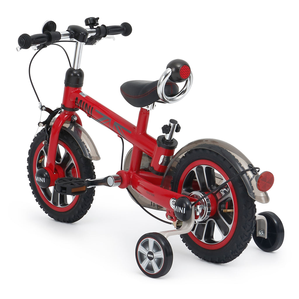 Genuine BMW MINI Cooper Official Licensed12 Inch Baby Stroller Bike Bicycle (RSZ1203) RED