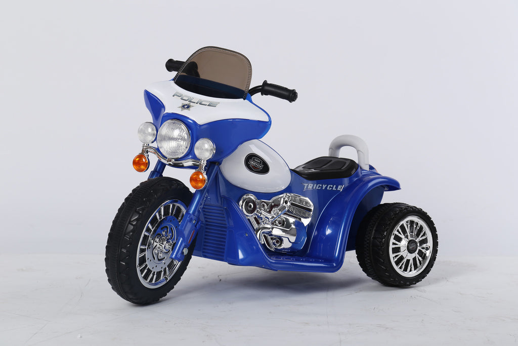 6V 4.5Ah Battery Powered Harley Style Electric Motor Trike (Model: JT568 ) BLUE