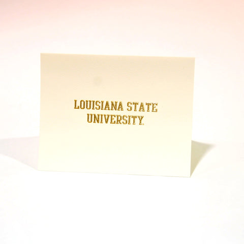LSU Embossed Notecards