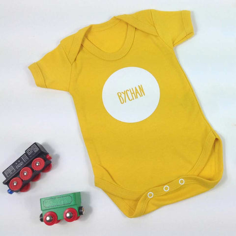 Babygrow - Little - Bychan - Yellow-The Welsh Gift Shop