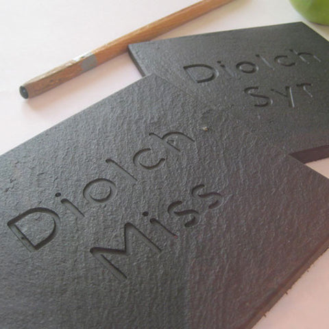 Coaster - Welsh Slate - Diolch Miss / Syr-Kitchen-The Welsh Gift Shop