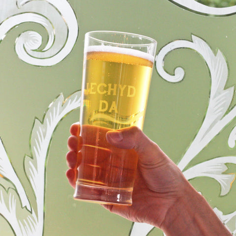 Pint / Beer Glass - Iechyd Da - Good Health - NEW-Kitchen-The Welsh Gift Shop