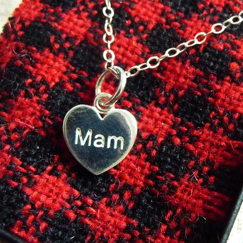 Pendant / Charm - Mother - Mam - Sterling Silver or Gold Plated-Jewellery-The Welsh Gift Shop