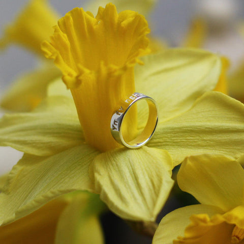 Ring - Yn Fy Nghalon Am Byth - Sterling Silver or Gold Plated-Jewellery-The Welsh Gift Shop