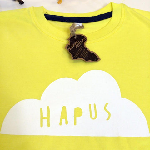 T-shirt - Baby / Toddler - Happy - Hapus - Yellow-The Welsh Gift Shop
