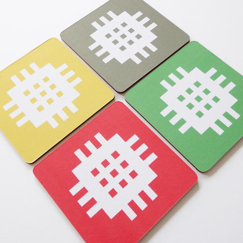 Set of 4 Coasters - Welsh Tapestry-Kitchen-The Welsh Gift Shop