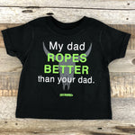 "YOUTH - ""MY DAD"" Toddler Tee - black/green"