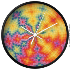 OM Festival 24 color wheel clock, ltd. edition