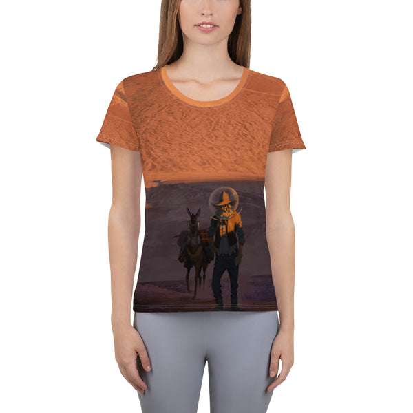 The Prospector - All-Over Print Women's Athletic T-shirt