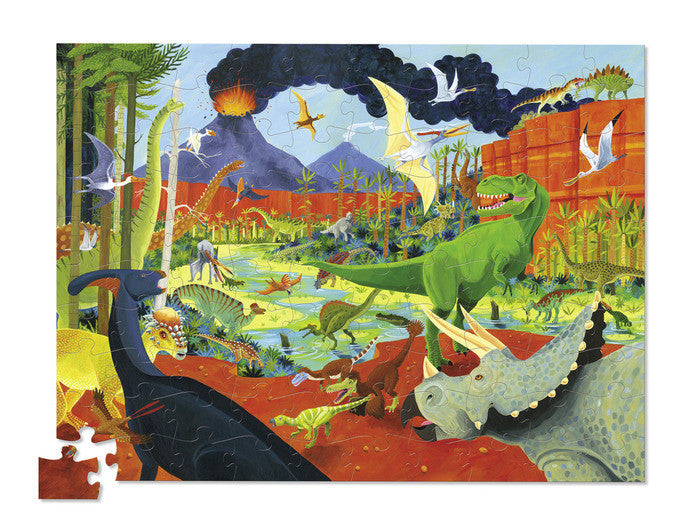 crocodile creek thirty six animal dinosaurs 100 piece puzzle