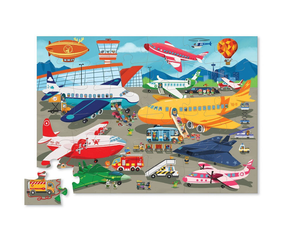 crocodile creek busy airport floor puzzle