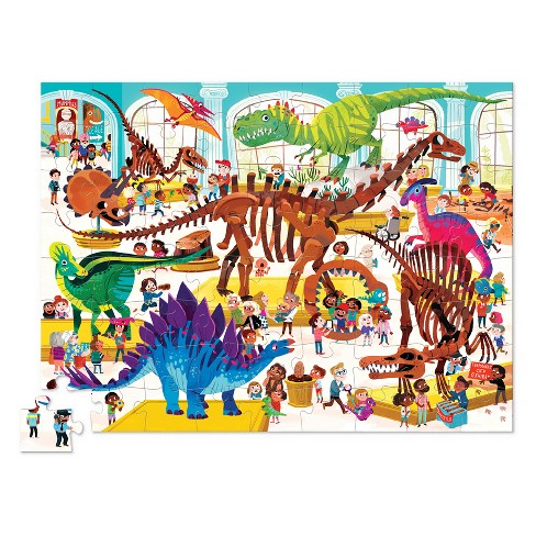 crocodile creek a day at the museum dino puzzle