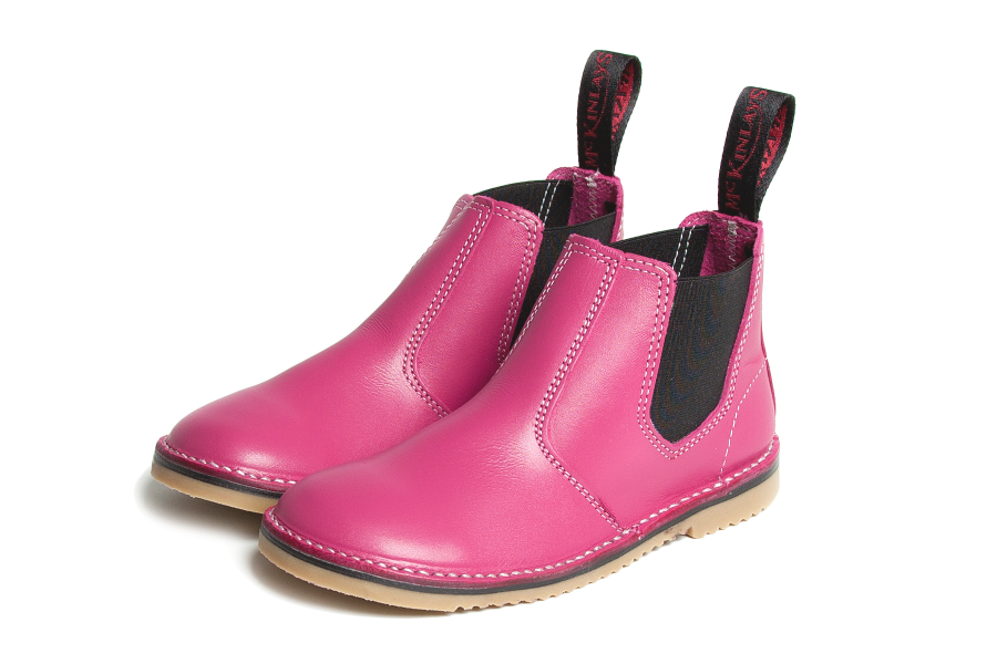 mckinlays hunter boot in hot pink