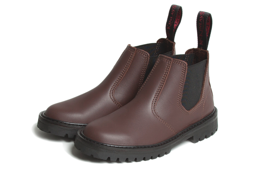 mckinlays hunter boot in mahogany
