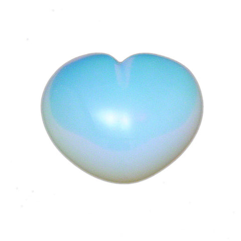 Opalite Puffy Heart, Crystal Heart, Healing Crystal Heart