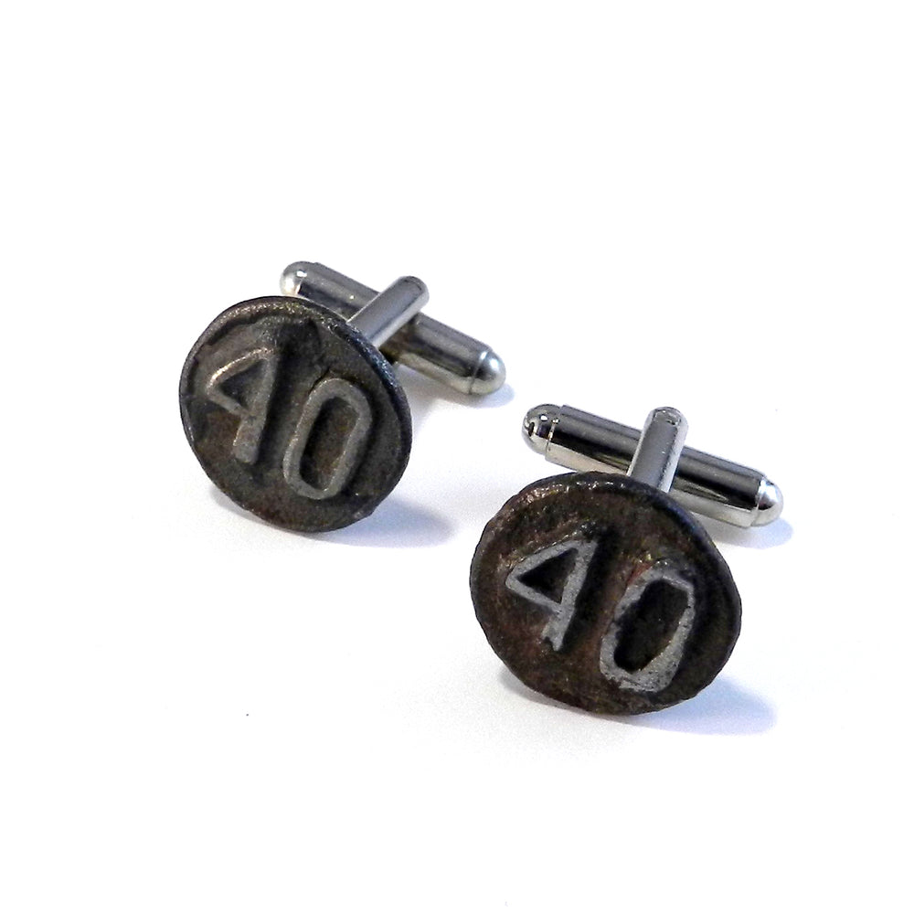1940 Railroad Date Nail Cufflinks