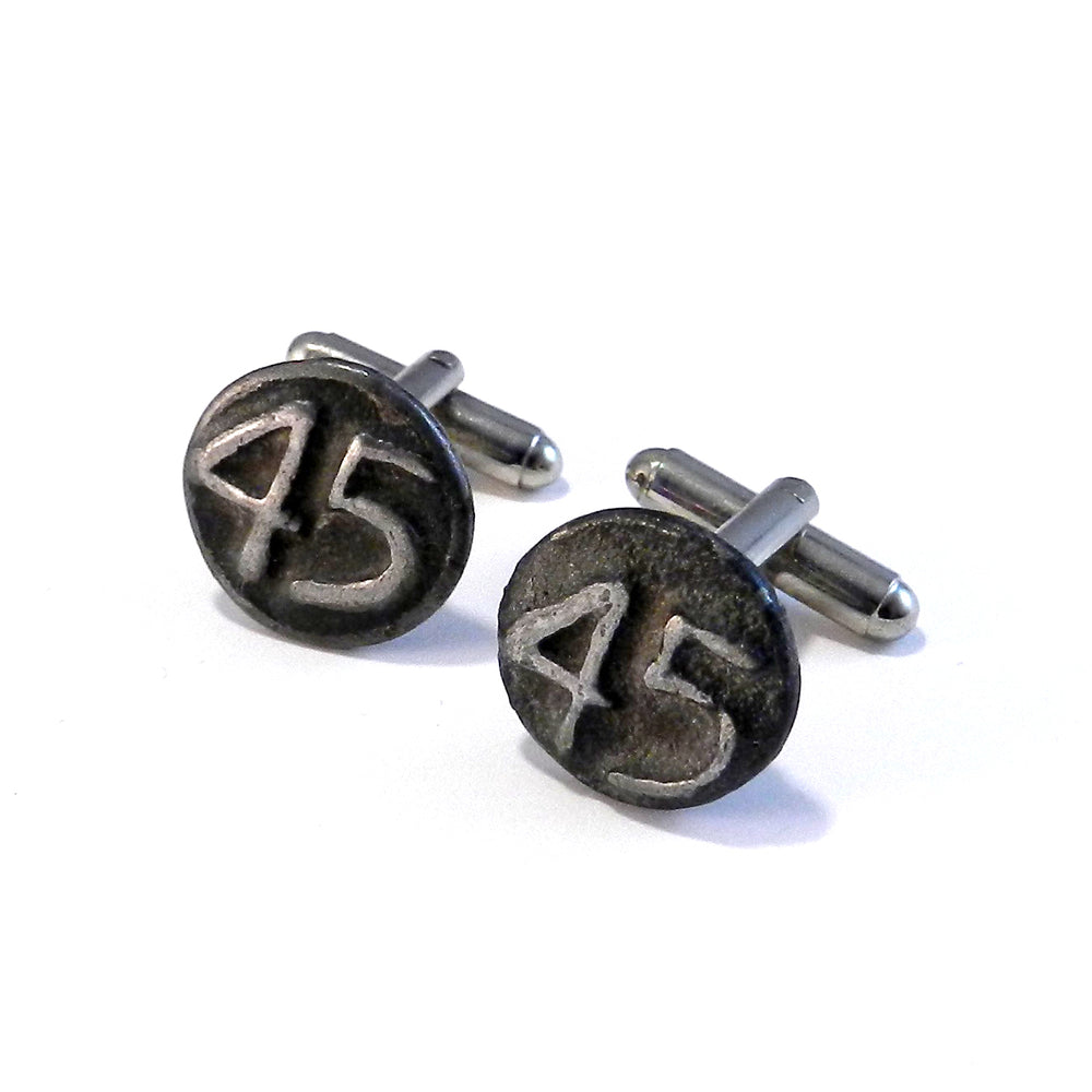 1945 Railroad Date Nail Cufflinks