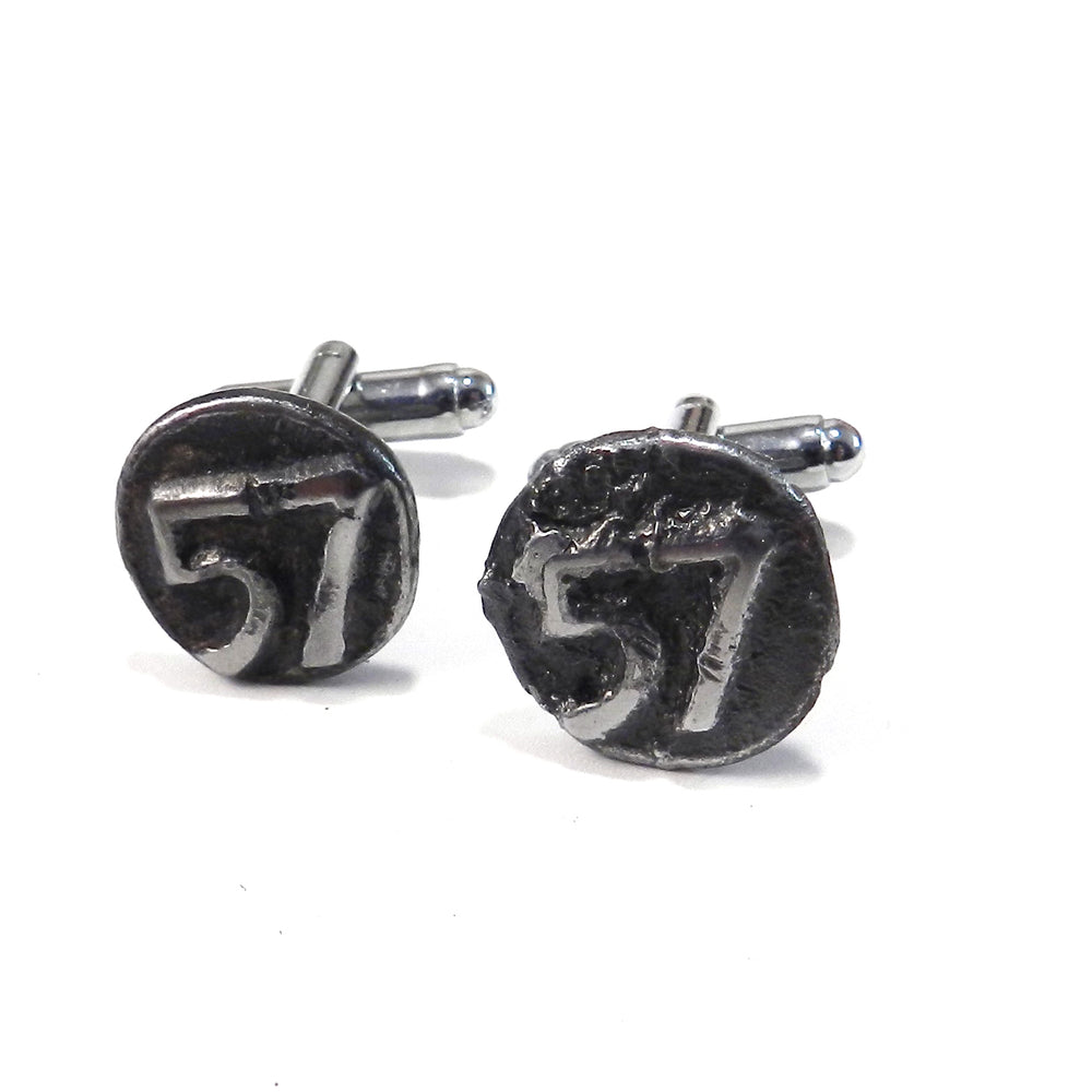 1957 Railroad Date Nail Cufflinks