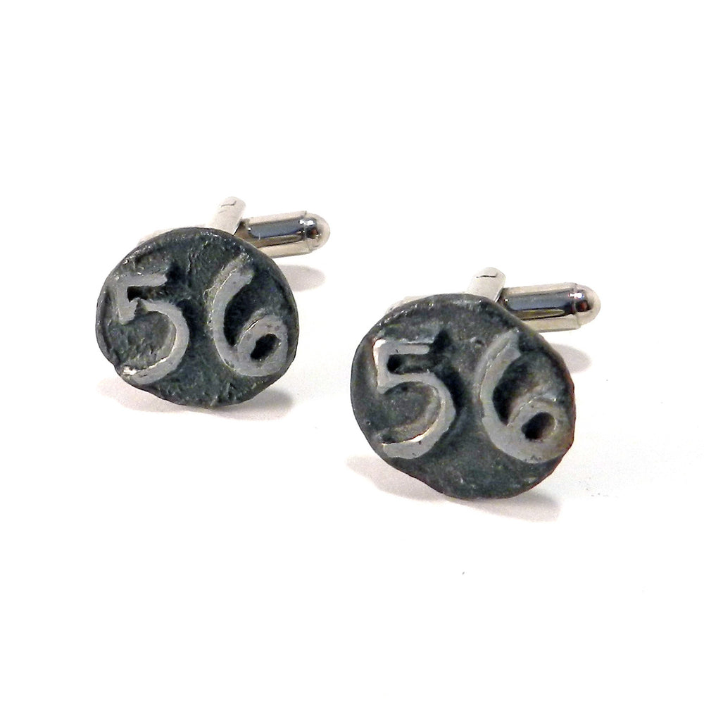 1956 Railroad Date Nail Cufflinks