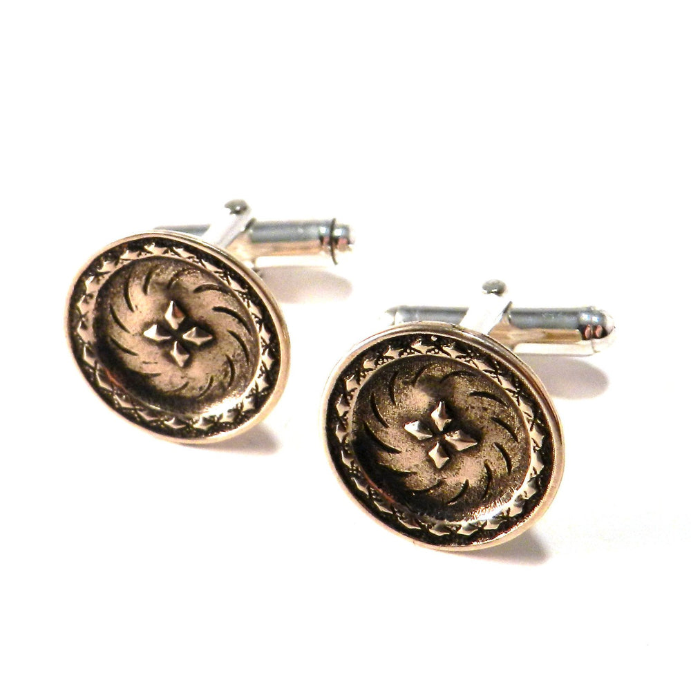 DIRECTIONS Antique Button Cufflinks - BRONZE