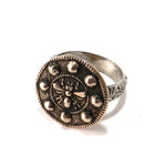 QUEEN BEE Antique Button Statement Ring - MIXED METAL