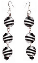 Load image into Gallery viewer, Pom Boho Chic Earrings (Stripes)