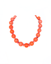 Load image into Gallery viewer, SLJ Marmalade Pop Necklace Orange Island Classic Handmade Natural Spiritual Travel Resort Boho Chic Collection Glass Beads
