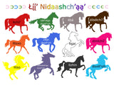 Lii' Nidaashch'aa' (Color Ponies) Poster and Card Set