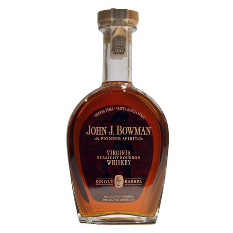 John J. Bowman Bourbon Single Barrel Bourbon | De Wine Spot - Curated Whiskey, Small-Batch Wines and Sakes