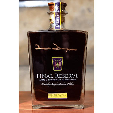 James Thompson & Brother Final Reserve 42-year-old Kentucky Straight Bourbon Whiskey - De Wine Spot | Curated Whiskey, Small-Batch Wines and Sakes