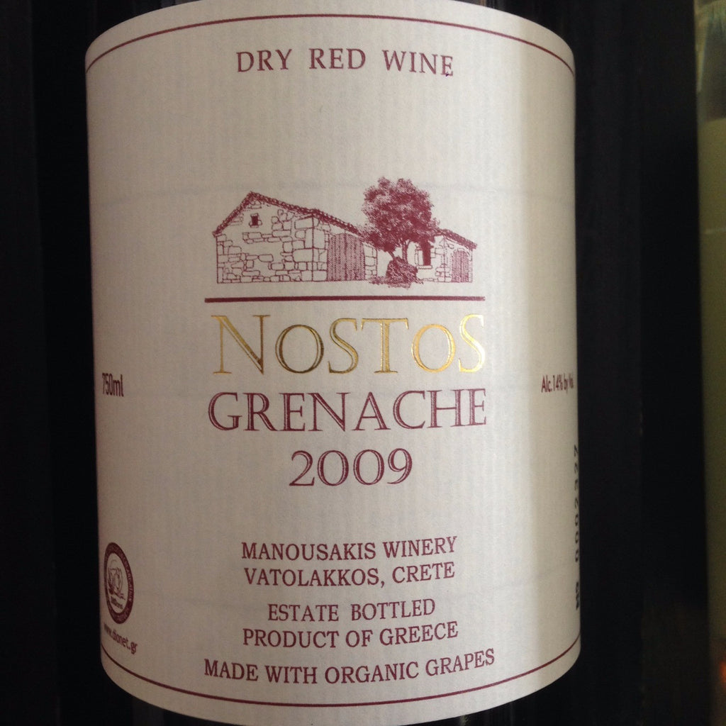 Manousakis Nostos Grenache - De Wine Spot | Curated Whiskey, Small-Batch Wines and Sakes