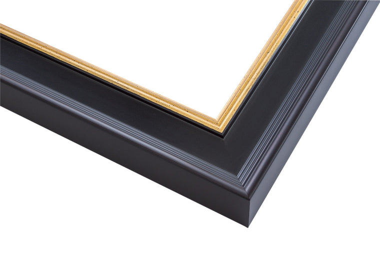 Traditional Black Frame with Gold Lip
