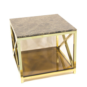 River Street Side Table Gold