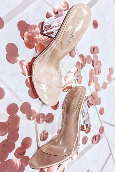 Fudsion Clear high heel shoes by Cape Robbin