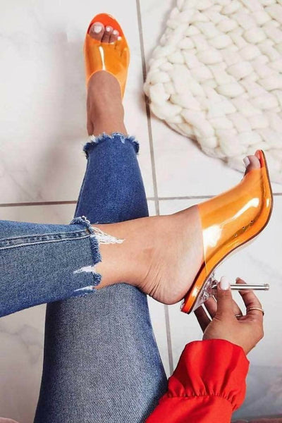 Paint Clear High Heels by Cape Robbin
