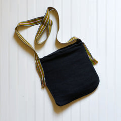 Yam Bag - Black with Olive and Orange Stripe Handle