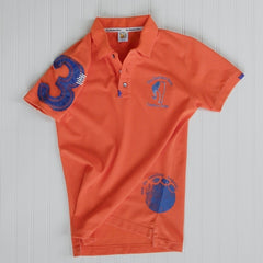 Orange Distressed Elephant Polo Jersey