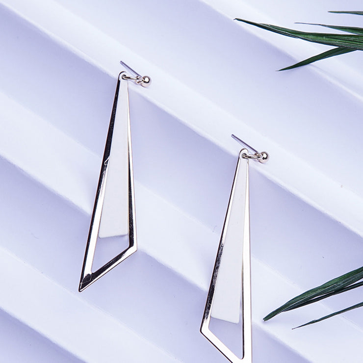 TRIANGLE FUN CREAM EARRINGS ER-115