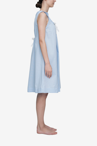 Sleeveless Nightie Soft Blue Stripe