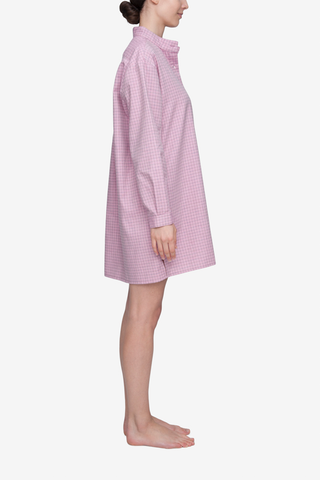 Short Sleep Shirt Dusty Pink Check