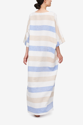 Oversized Kaftan Big Tan Stripe