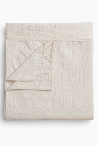 Amish Star Wholecloth Throw Quilt