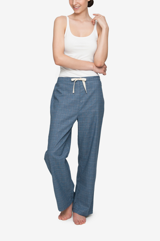 Lounge Pant Light & Dark Blue Check