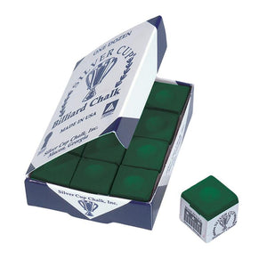 Silver Cup Green Cue Chalk
