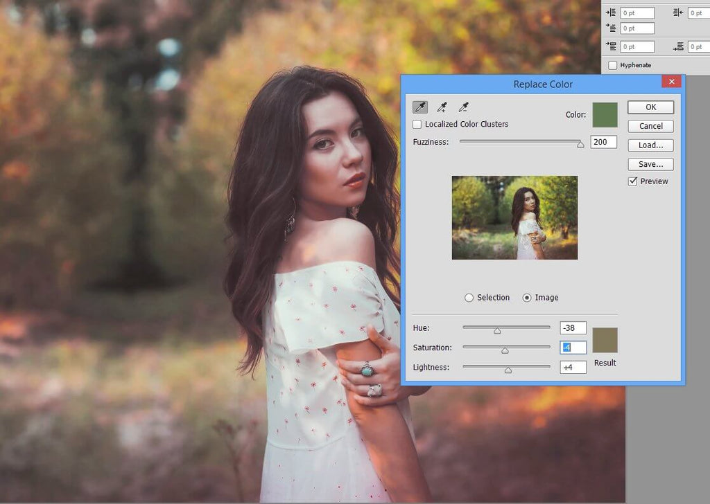 how to change the color of something in photoshop