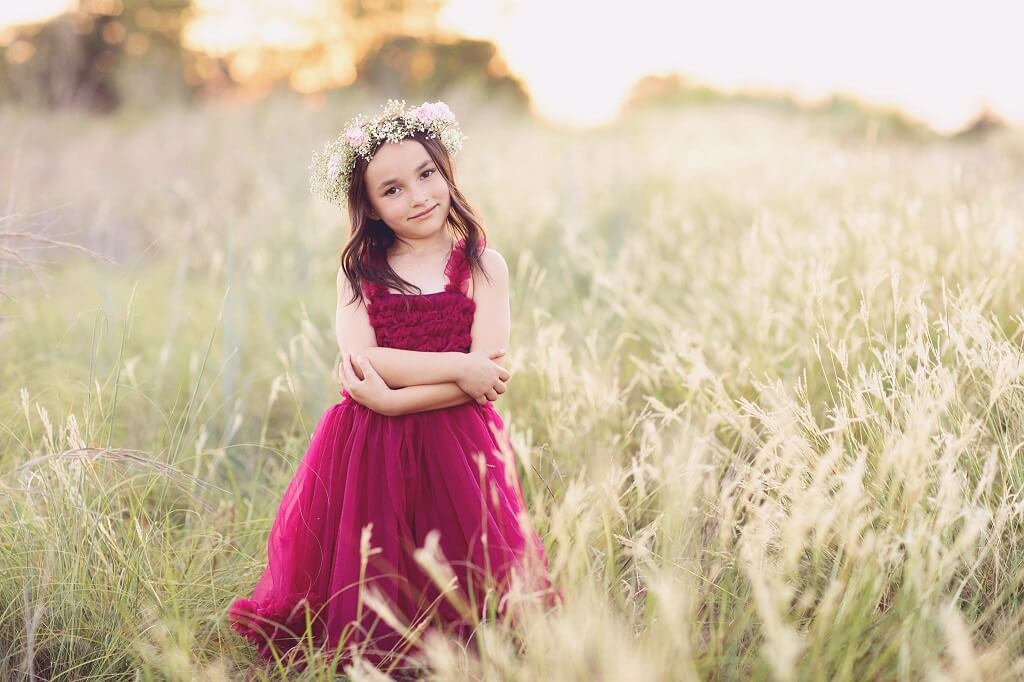 Sun Up Action from the Pastel Dreams Collection added to photo of a young girl in a field